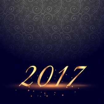 Dark background with ornaments for new year