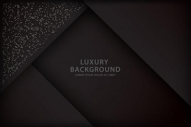 Dark background with overlap style