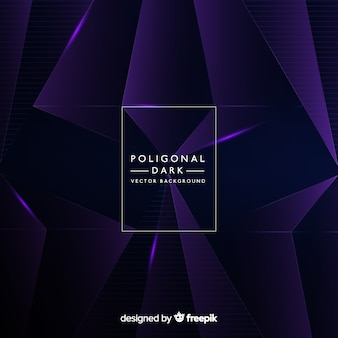 Dark background with polygonal shapes