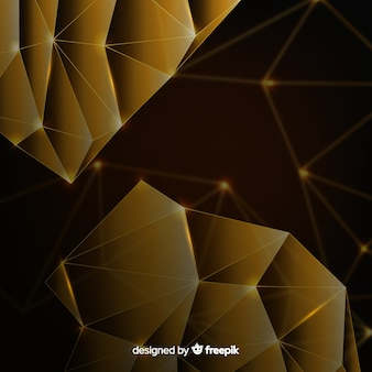 Sfondo scuro con forme poligonali