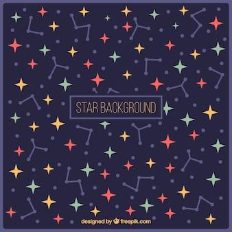 星や星座と暗い背景