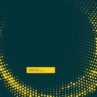 黄色の中間調波効果と暗い背景