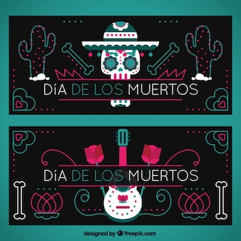 Dark banners of the day of the dead