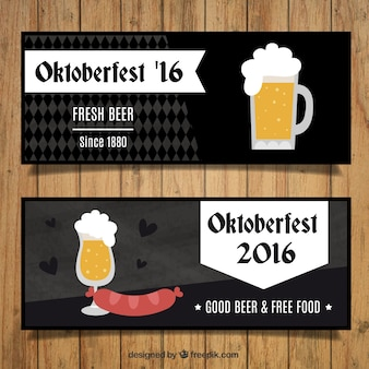 Dark banners of oktoberfest festival