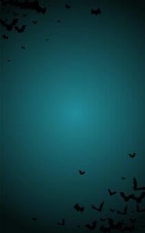 Темный летучая мышь жуткий вектор синий фон. дизайн декора крыла. праздник вампир иллюстрации. летающий плакат.