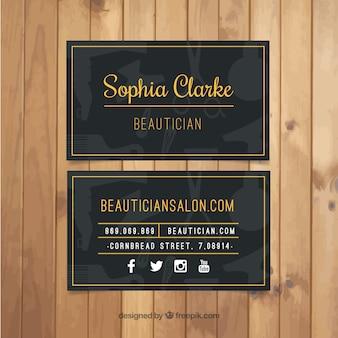 Dark beauty salon card