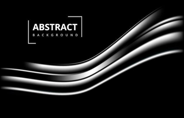 Темно-черный абстрактный современный волна градиент текстуры фона обои графический дизайн