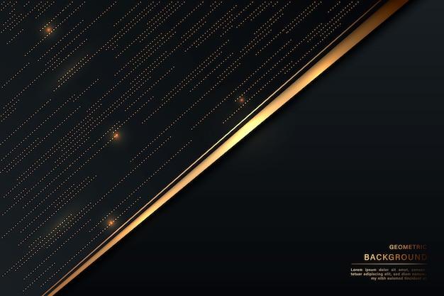 ダークブラックとゴールドの背景モダンなダークアブストラクト