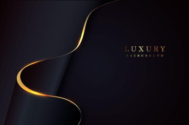 ダークブラックとゴールドのモザイクの背景。現代の暗い抽象