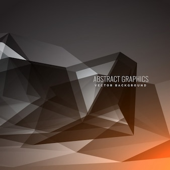 Dark black background with polygonal shapes