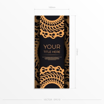 Dark black gold invitation card template with white abstract ornament. elegant and classic vector elements ready for print and typography. vector illustration.