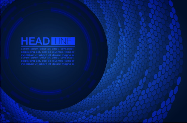 Dark blue abstract background text