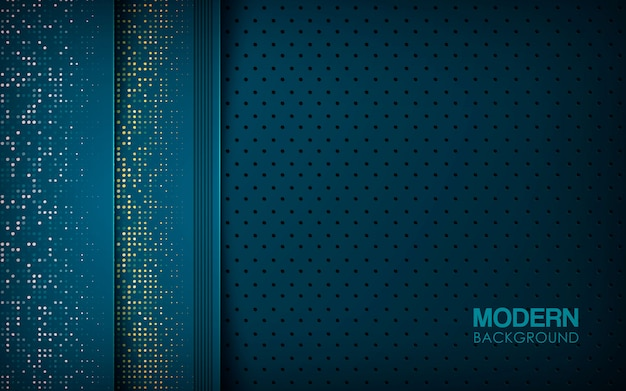 Dark blue abstract background with overlap layers