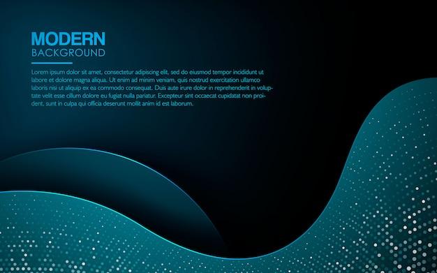 Dark blue abstract wave background