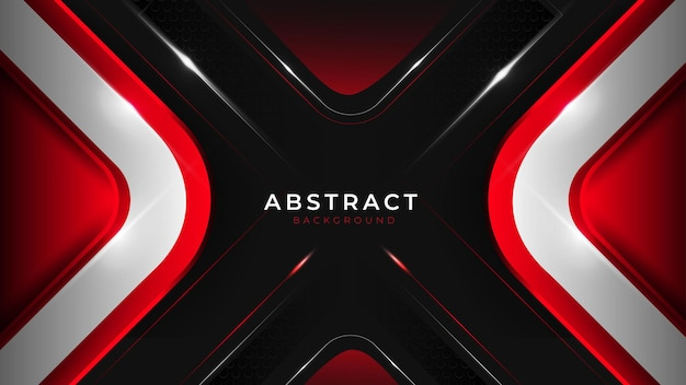 ダークブルーと赤の豪華な滑らかな三角形の線と形のモダンなデザインベクトルの背景