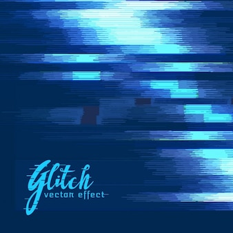 Dark blue background, glitch effect
