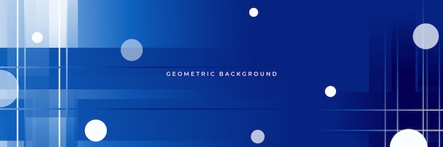 Dark blue background with abstract geometric shapes, dynamic and sport or tech banner concept
