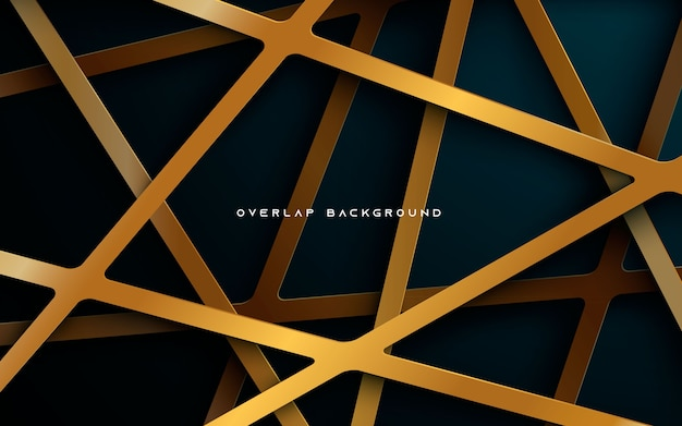 Dark blue background with gold overlap layers