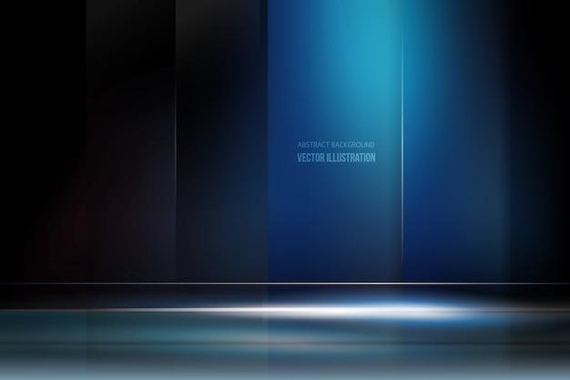 暗い青色の背景と光