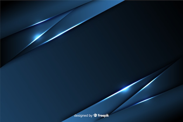 Dark blue background with metallic effect