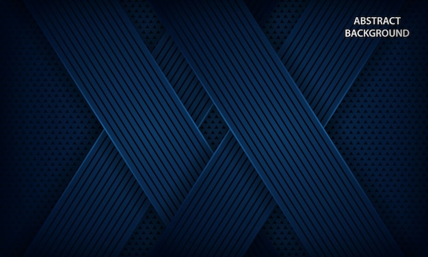 Dark blue background with overlap layers.