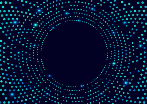Dark blue background with spots
