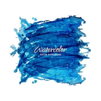 Moderno sfondo blu acquerello