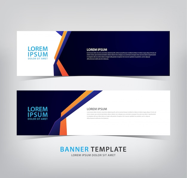 Dark blue banner with fold lines
