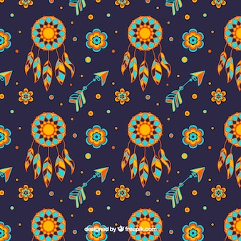 Dark blue boho pattern