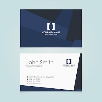 Dark blue business card design