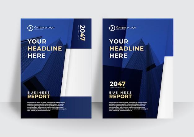 Темно-синий дизайн вектор брошюры бизнес обложки. шаблон макета журнала современный плакат, годовой отчет для презентации