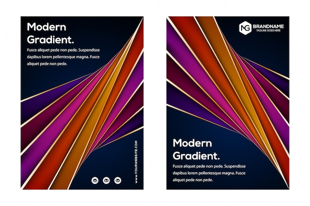 Dark blue cover template design set for business and construction