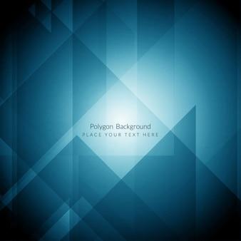 Colore blu moderno disegno di sfondo poligonale