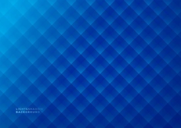 Dark blue geometric light and shadows abstract background. Premium Vector