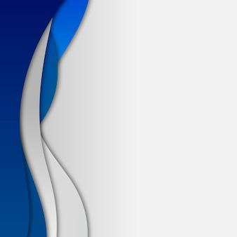 Modello di cornice curva blu scuro e grigio