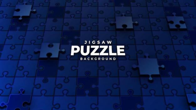 ダークブルーのジグソーパズルのピースの背景