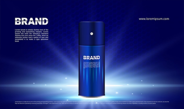 Dark blue and lighting background for cosmetic men
