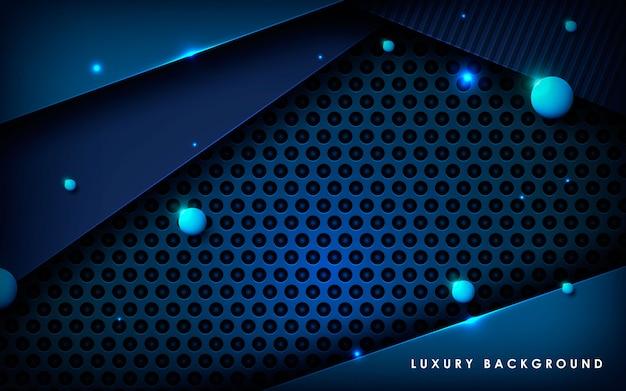 Dark blue metal texture background vector