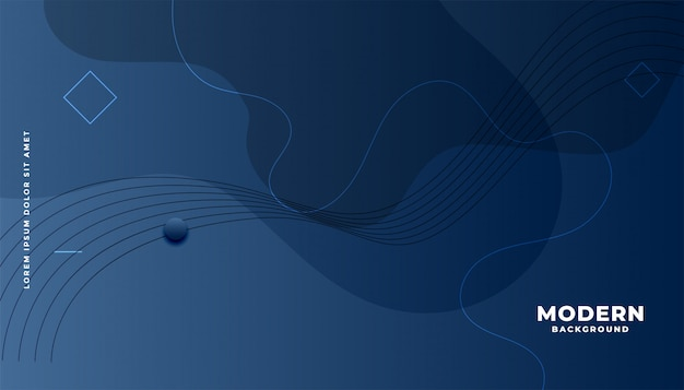 Dark blue modern abstract fluid background