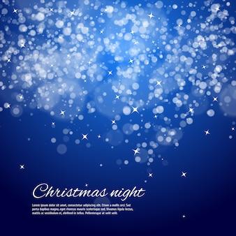 Синяя ночь новогодний фон