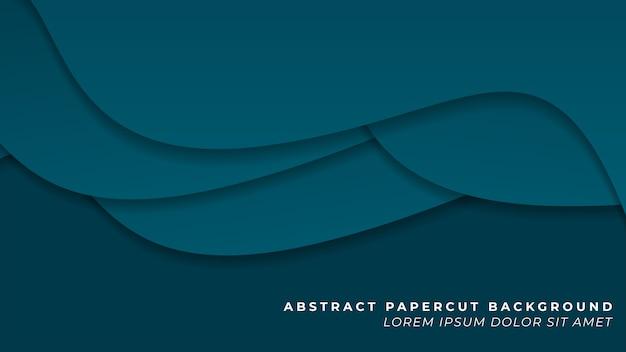 진한 파란색 겹치는 papercut 배경
