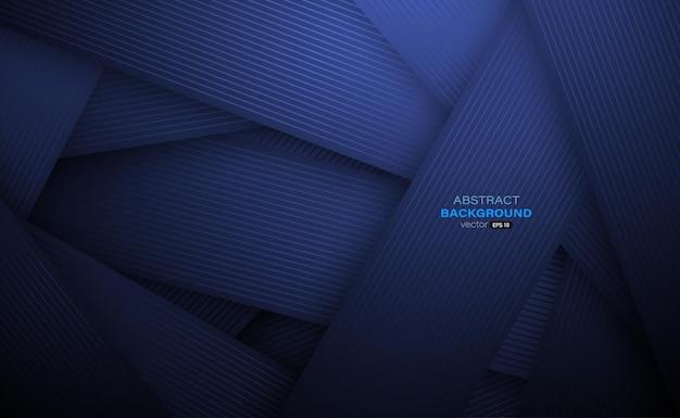 선 줄무늬 추상 배경으로 질감이 있는 진한 파란색 종이 컷 장식