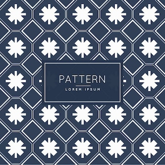 Dark blue patten with abstract shapes