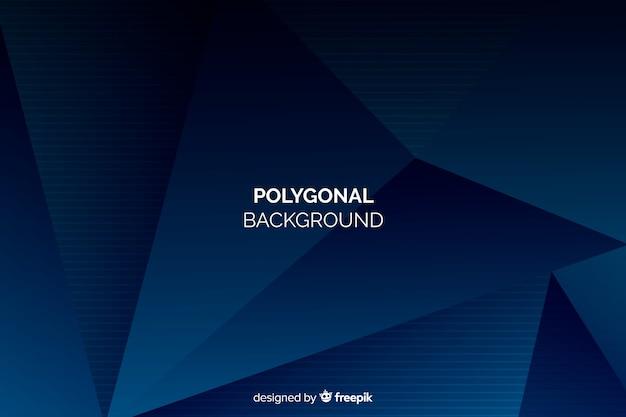 Dark blue polygonal background