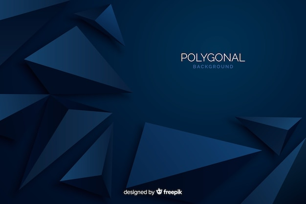 Dark blue polygonal background