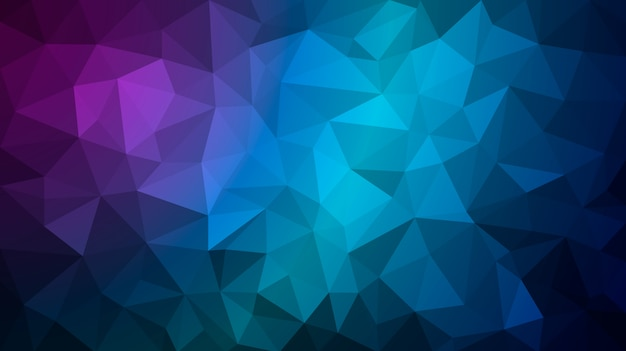 Dark blue polygonal illustration consist of triangles. geometric background in origami style with gradient.