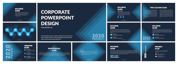 Dark blue presentation template