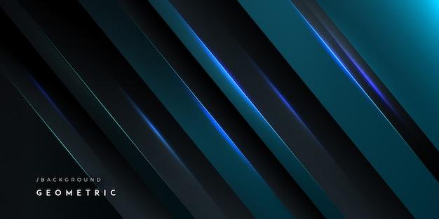 Темно-синий реалистичная современный геометрический фон
