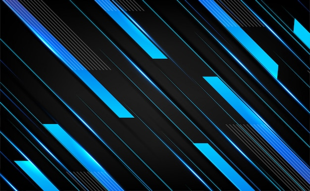 Dark blue silver overlap layers element 3d effect . abstract frame layout tech innovation  background
