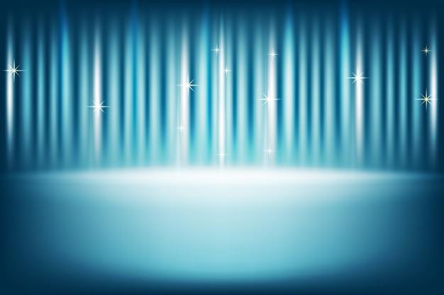 Синяя сцена для презентации продукта
